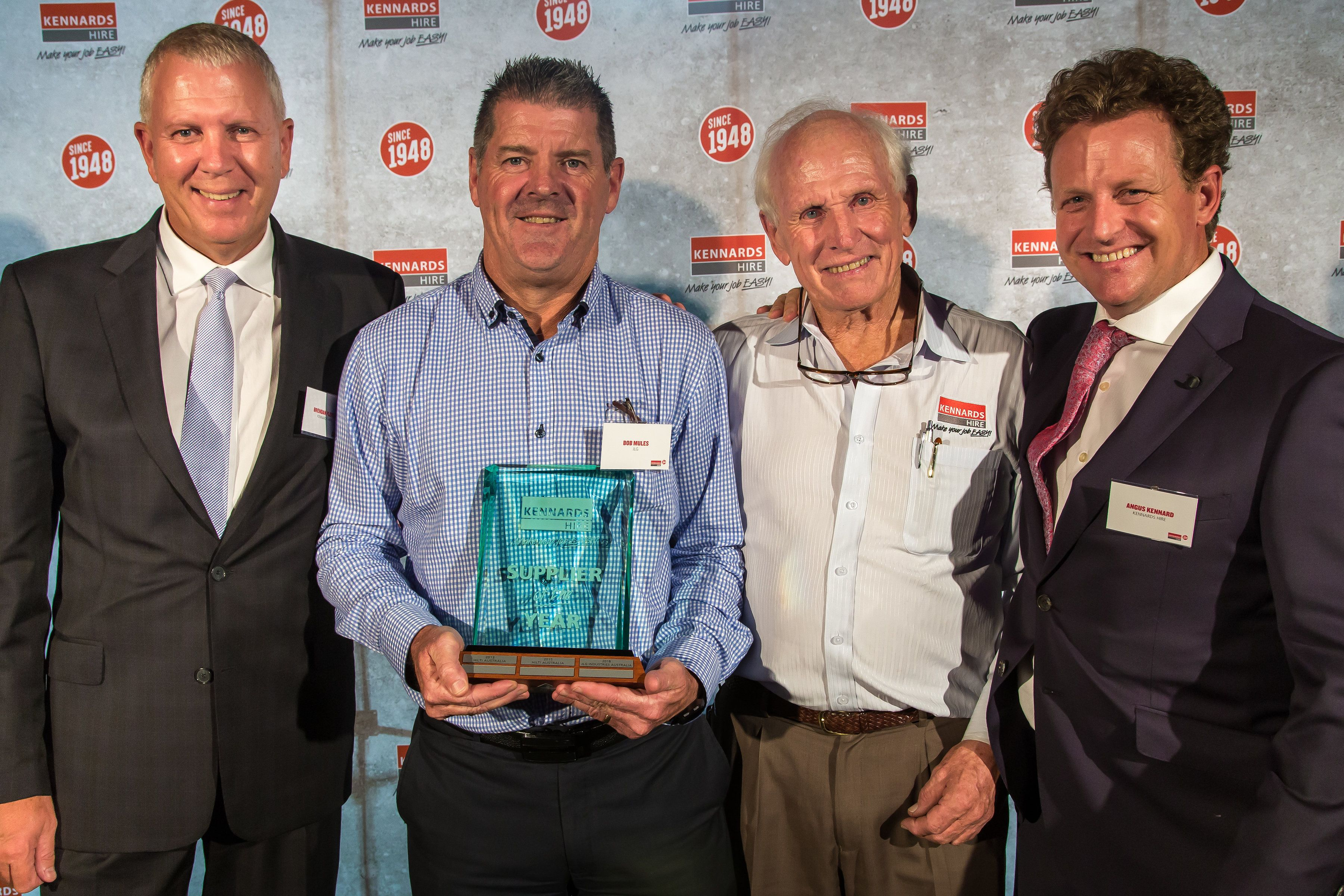 JLG Industries crowned Kennards Hire Supplier of the Year 2018