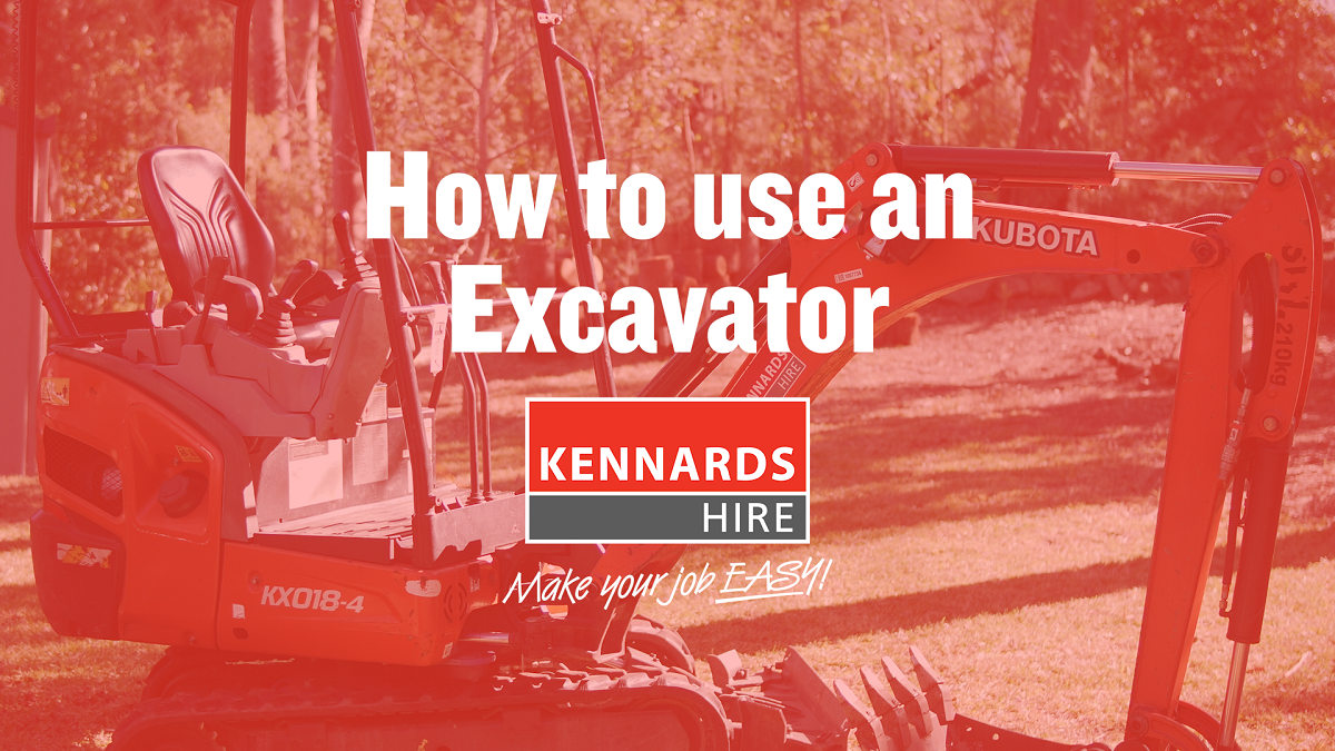 How to use an Excavator