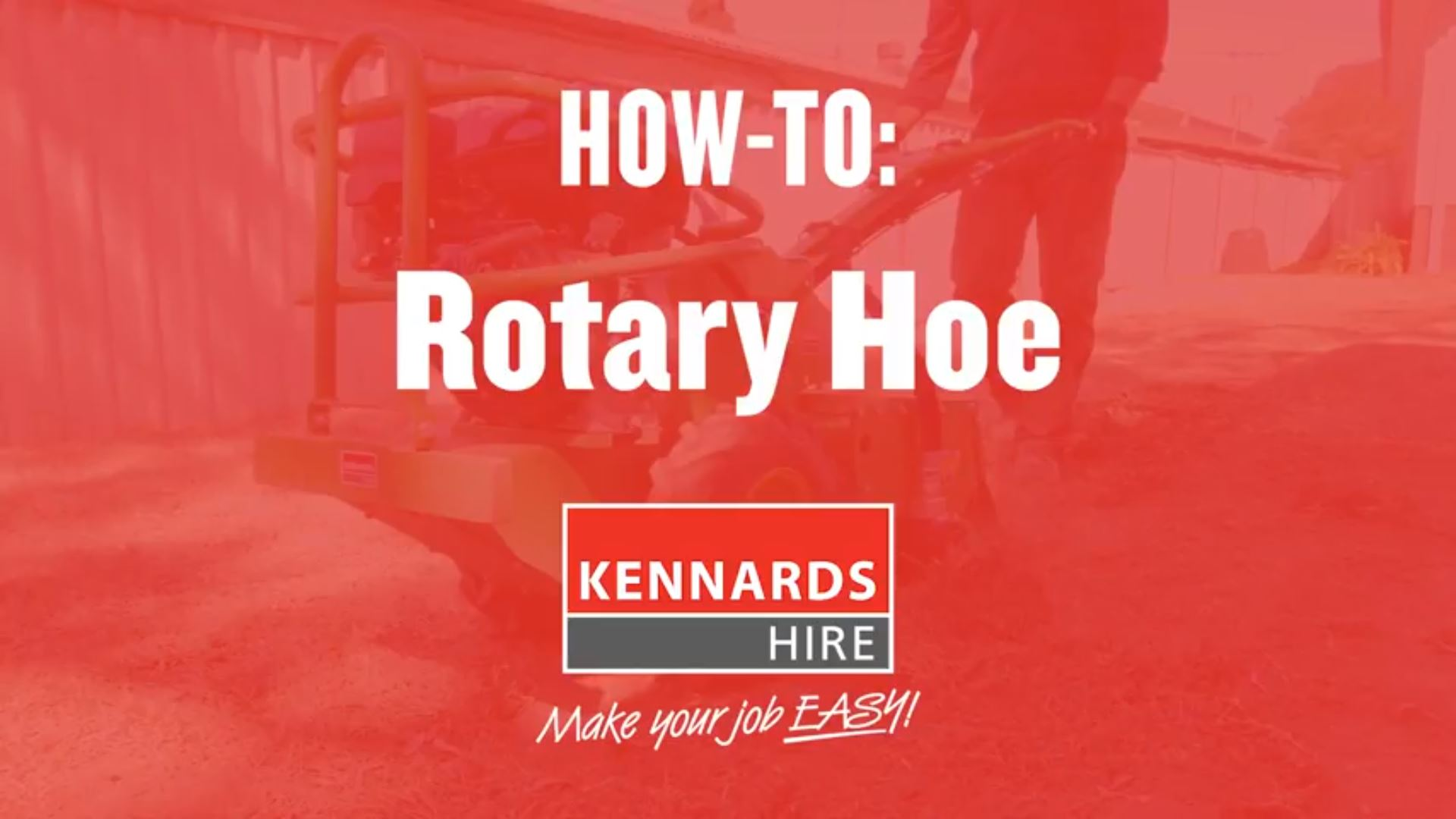 How to use a Rotary Hoe
