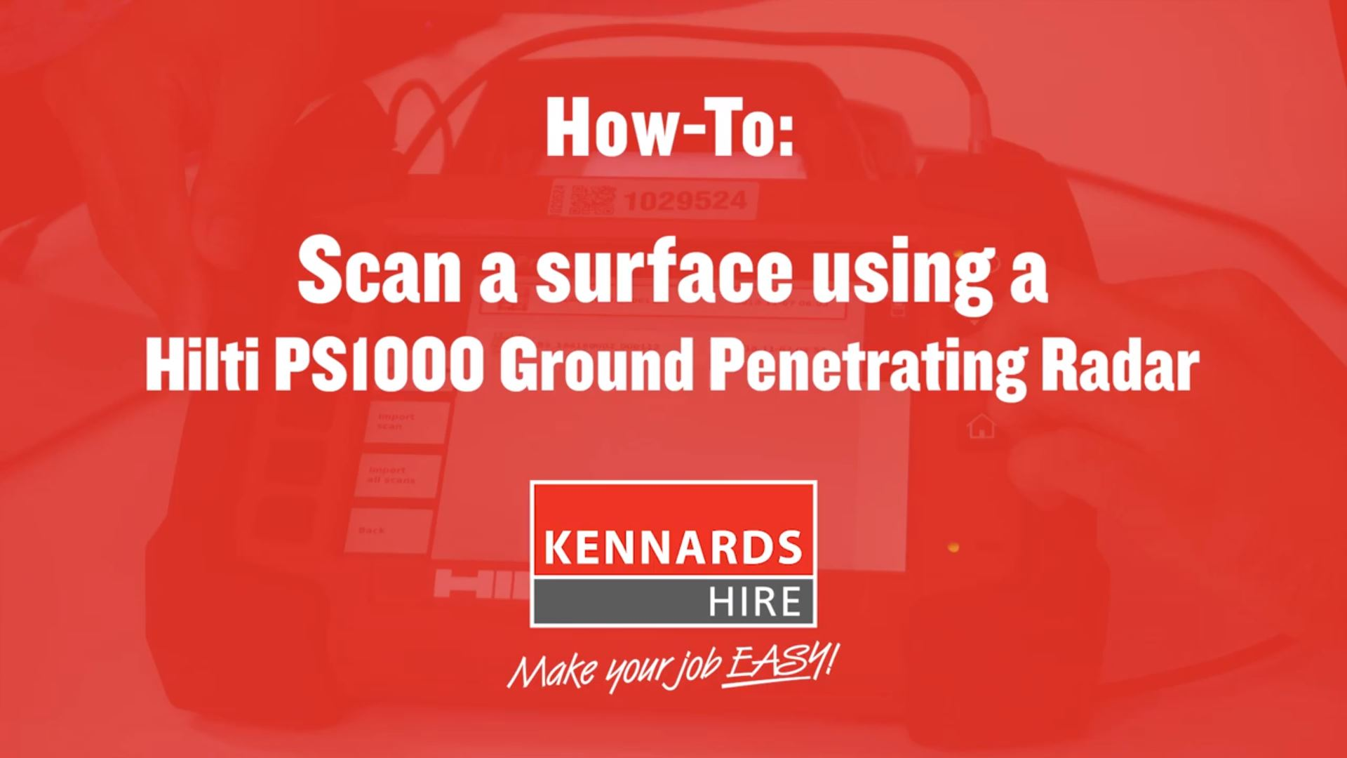 How to Use the Hilti PS1000 Ground Penetrating Radar