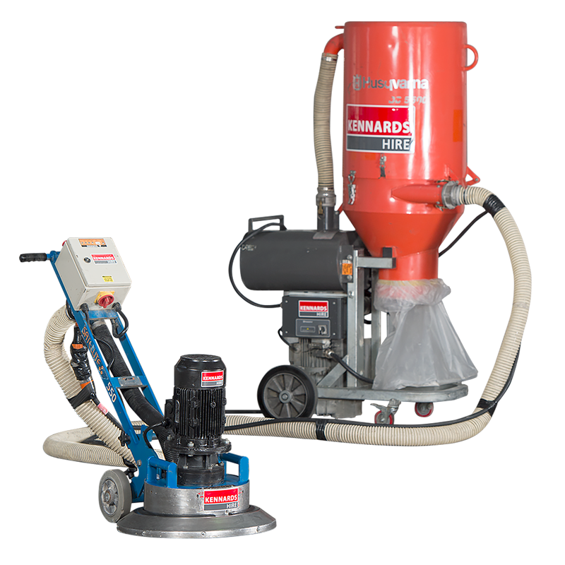 CONCRETE GRINDER - SINGLE HEAD HEAVY DUTY 415V for Rent - Kennards Hire