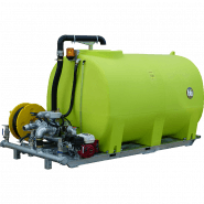 WATER TANK & PUMP 4400L SKID