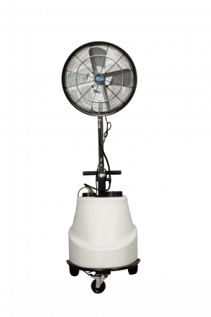 FAN - PEDESTAL MISTING HOSE FED