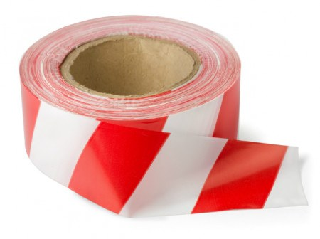BARRICADE - TAPE RED/WHITE 100M