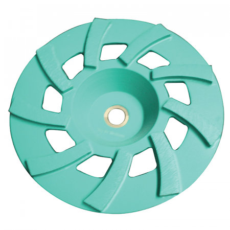 "CUP DISC  7"" -  9 SEG 30/40# GREEN"