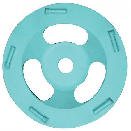 "PCD CUP DISC  5"" - 8MM FULL ROUND"