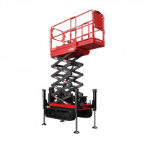 SCISSORLIFT  5.8M (19FT) TRACKED NARROW BI-LEVELLING