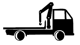 A truck with a crane is required