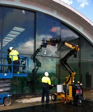 Blog Hired Glass Lifter Saved Labour On Cultural Centre