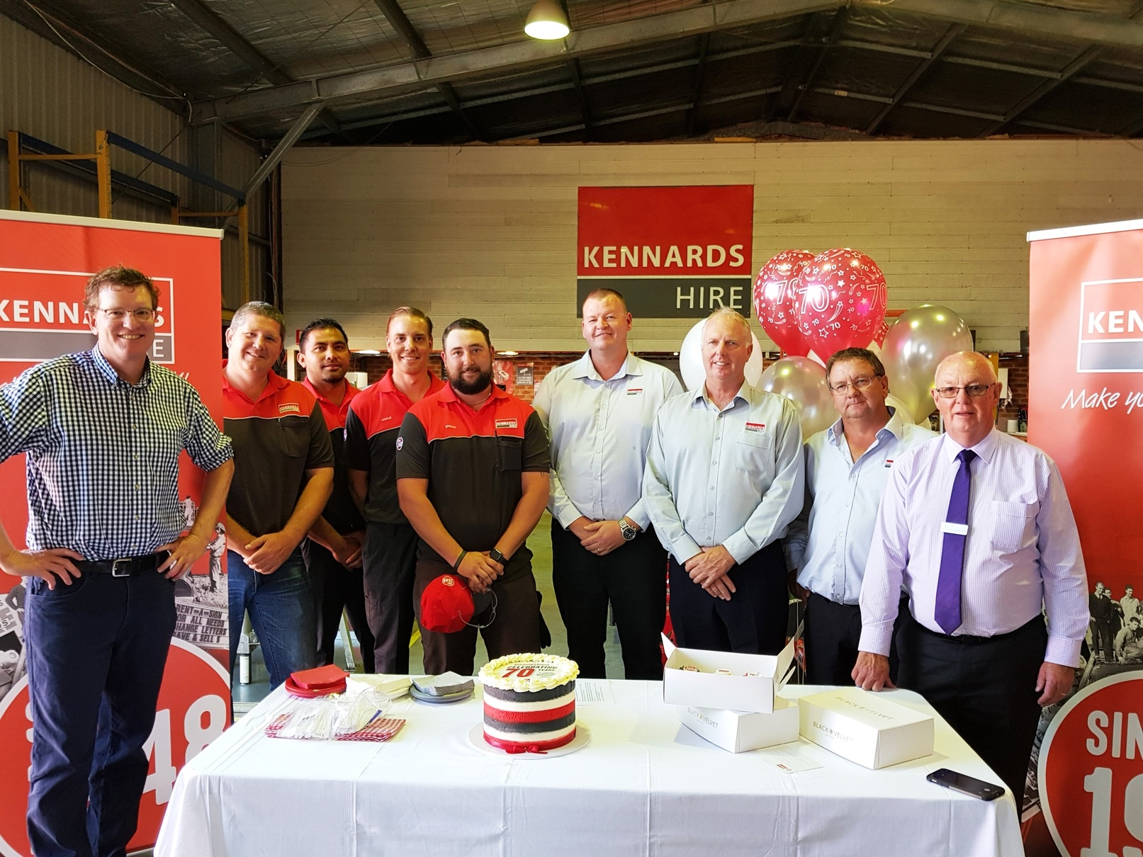 Kennards Hire celebrates its 70th anniversary