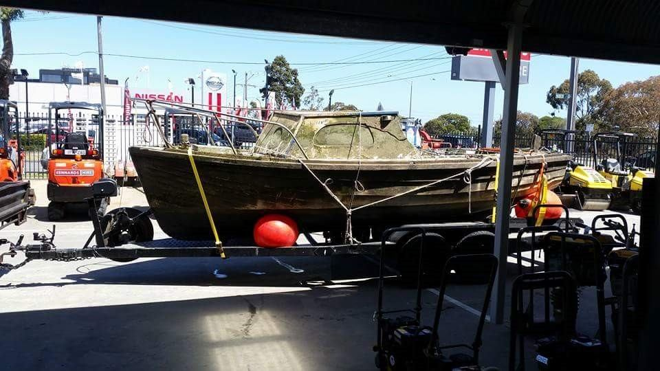 The sunken boat a customer needed help with