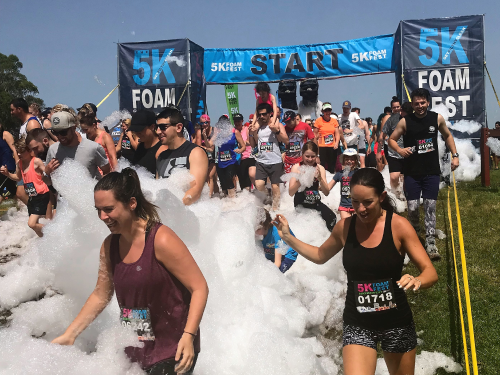 Kennards Hire Helps Stage 5k Foam Fest