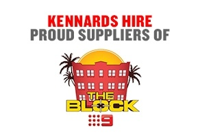 Kennards Hire Proud Supplier of The Block